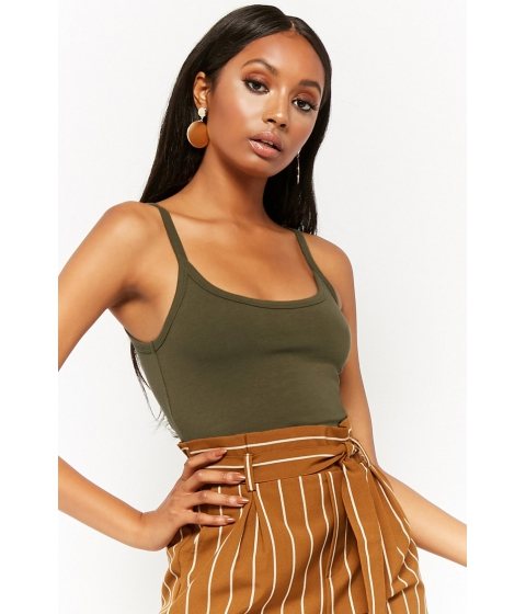 Imbracaminte Femei Forever21 Cotton-Blend Cami OLIVE