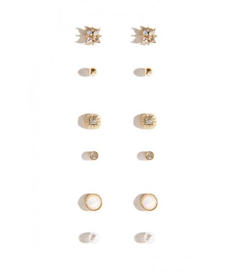 Bijuterii Femei Forever21 Iridescent Stud Earring Set GOLDCLEAR