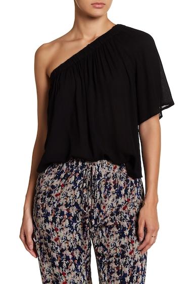 Imbracaminte Femei renamed apparel One Shoulder Solid Blouse BLACK