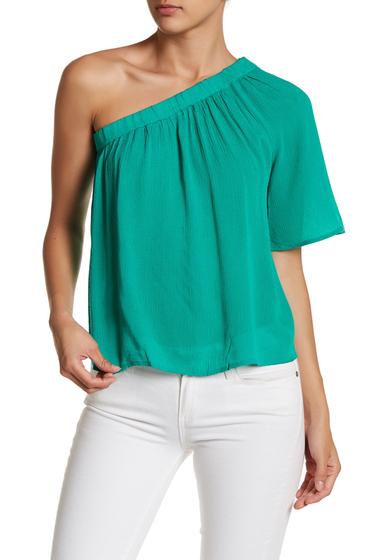 Imbracaminte Femei renamed apparel One Shoulder Solid Blouse EMERALD