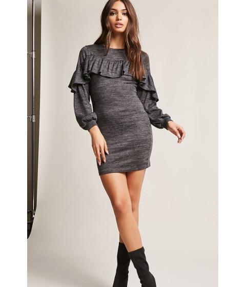 Imbracaminte Femei Forever21 Flounce Marled Bodycon Dress CHARCOAL
