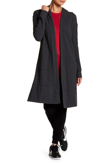 Imbracaminte Femei Marc New York Long Sleeve Hooded Duster CHARCOAL HTHR