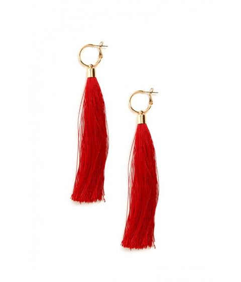 Bijuterii Femei Forever21 Tassel Duster Earrings REDGOLD