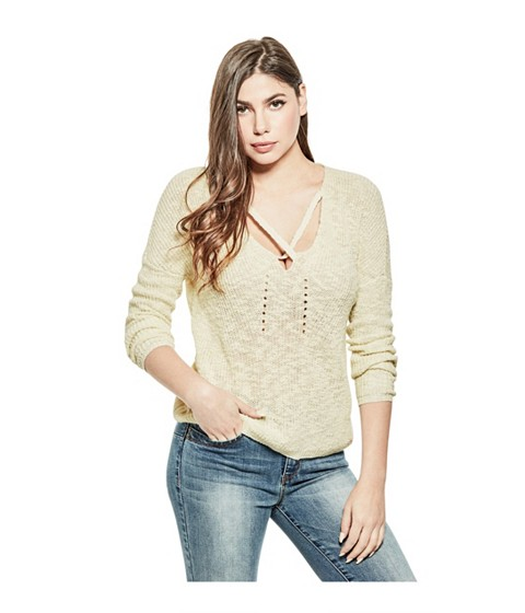 Imbracaminte Femei GUESS Dolley Crisscross Sweater milk