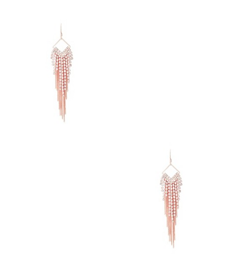 Bijuterii Femei GUESS Rose Gold-Tone Fringe Earrings rose gold