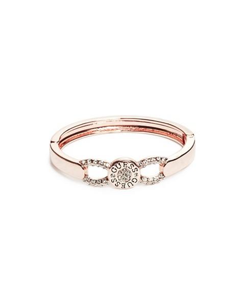 Bijuterii Femei GUESS Rose Gold-Tone Pave Logo Button Bangle rose gold