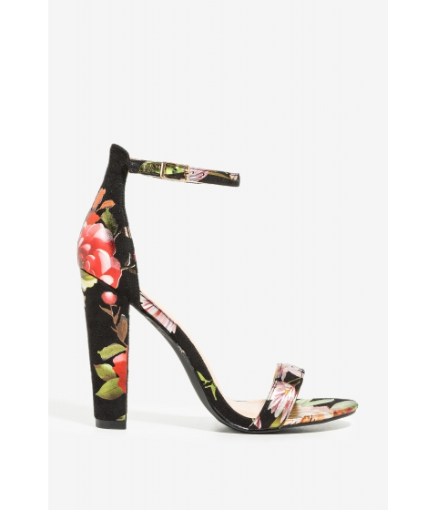 Incaltaminte Femei CheapChic Grow And Behold Heel Black Print