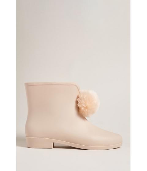 Incaltaminte Femei Forever21 Dizzy Pom Pom Rain Boots NUDE