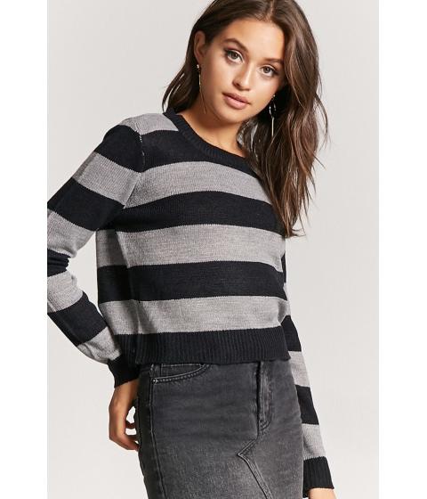 Imbracaminte Femei Forever21 Striped Purl Knit Sweater BLACKHEATHER GREY