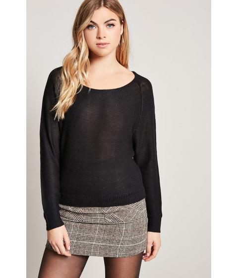 Imbracaminte Femei Forever21 Boat Neck Purl Knit Sweater BLACKBLACK