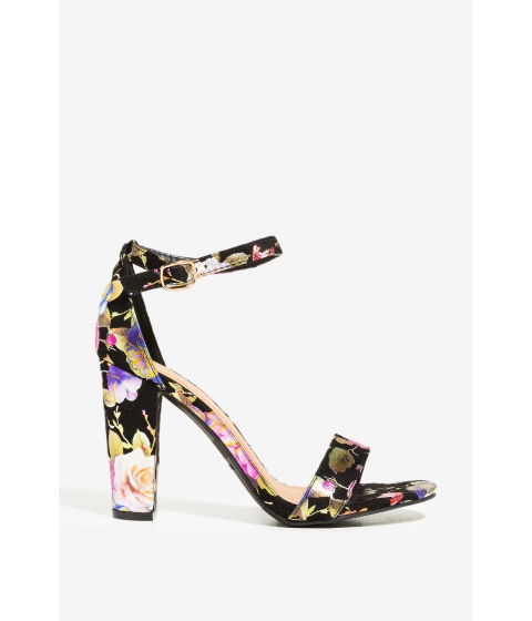 Incaltaminte Femei CheapChic Watch Me Bloom Heel Black Print