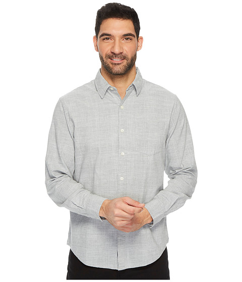 Imbracaminte Barbati US Polo Assn Slim Fit Stripe Plaid or Print Long Sleeve Sport Shirt Heather Grey