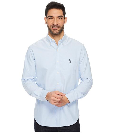 Imbracaminte Barbati US Polo Assn Classic Fit Long Sleeve Sport Shirt Light Blue
