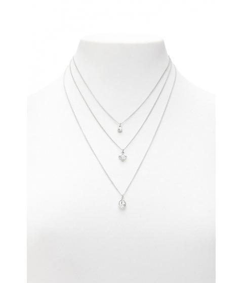 Bijuterii Femei Forever21 Rhinestone Pendant Necklace Set SILVERCLEAR