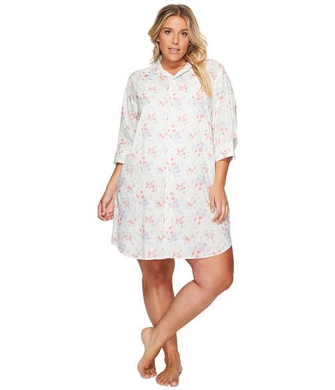 Imbracaminte Femei LAUREN Ralph Lauren Plus Size Cotton Rayon Lawn 34 Sleeve His Shirt PinkLavendar Floral