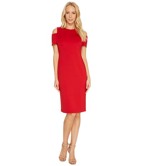 Imbracaminte Femei Calvin Klein Cold Shoulder Scuba Dress CD7M114R Red