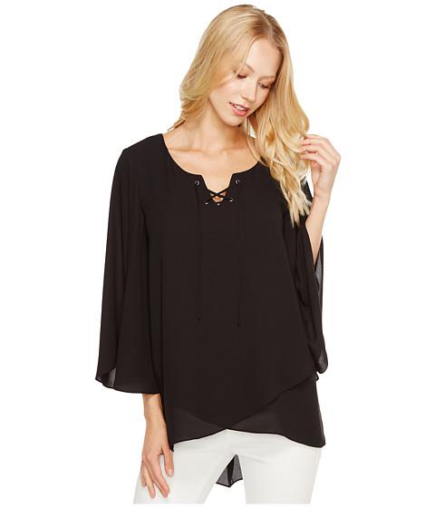 Imbracaminte Femei Karen Kane Crossover Flare Sleeve Top Black