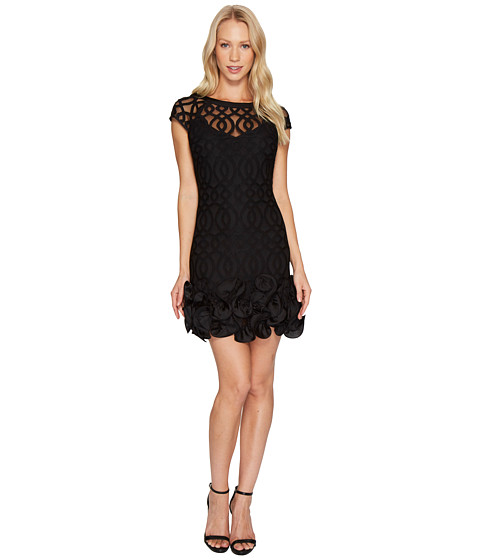 Imbracaminte Femei Jessica Simpson Ruffle Bottom Lattice Dress Black