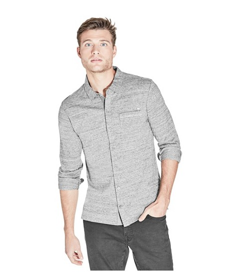 Imbracaminte Barbati GUESS Gill Button-Down Shirt lunar grey