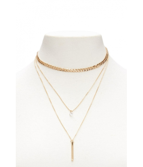 Bijuterii Femei Forever21 Layered Pendant Necklace GOLDCLEAR