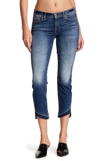 Imbracaminte Femei 7 For All Mankind Roxanne Asymmetrical Hem Ankle Skinny Jeans SERATGOBAY