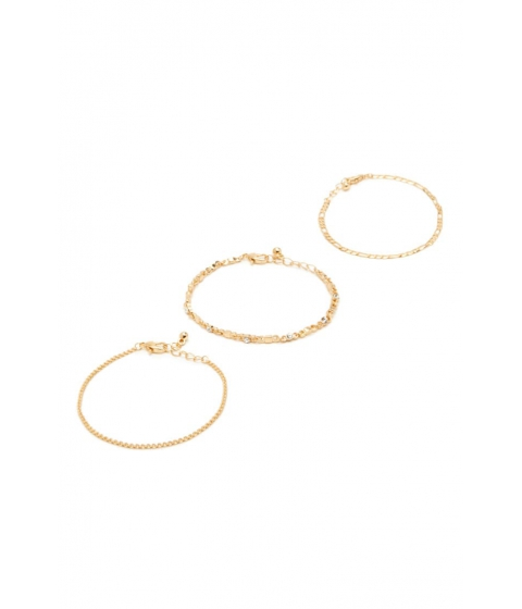 Bijuterii Femei Forever21 Rhinestone Bracelet Set GOLDCLEAR