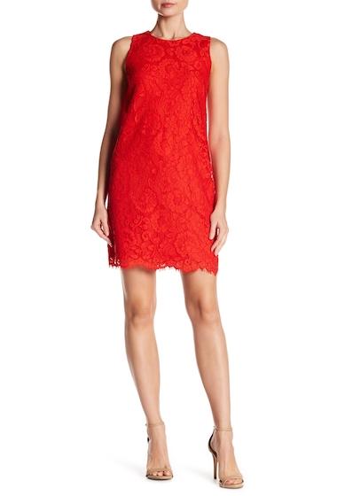 Imbracaminte Femei CeCe by Cynthia Steffe Arlington Sleeveless Floral Lace Dress FIERY RED