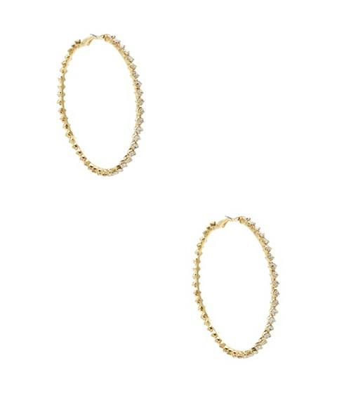 Bijuterii Femei GUESS Rhinestone Hoop Earrings gold