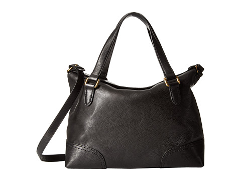Genti Femei Frye Claude Satchel Black Tumbled Full Grain
