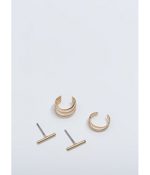 Bijuterii Femei CheapChic Singles Bars Ear Cuff And Earring Set Gold