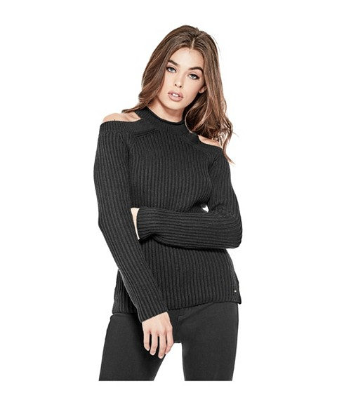 Imbracaminte Femei GUESS Ingrid Cold-Shoulder Sweater jet black