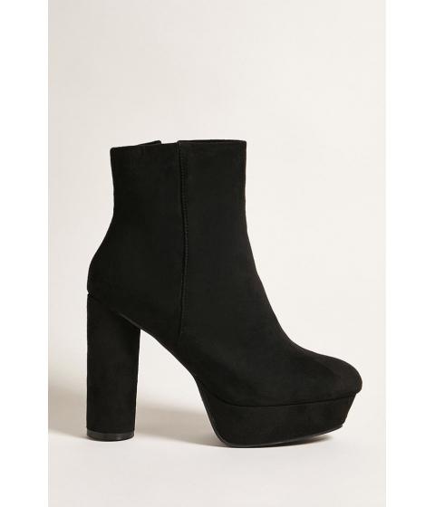 Incaltaminte Femei Forever21 Suede Platform Ankle Boots BLACK