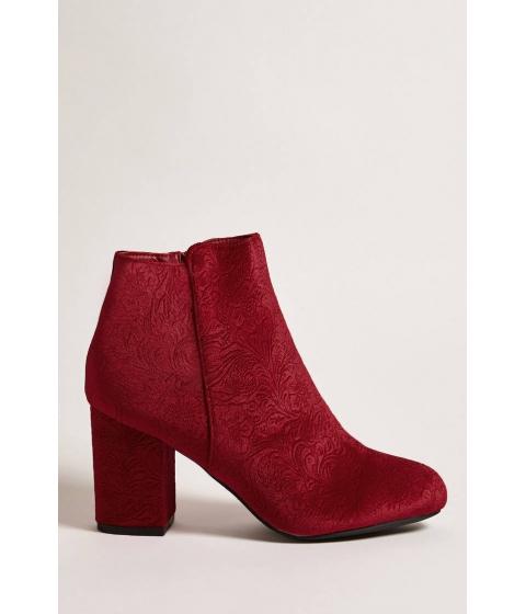 Incaltaminte Femei Forever21 Velvet Ankle Boots RED
