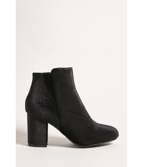 Incaltaminte Femei Forever21 Velvet Ankle Boots BLACK