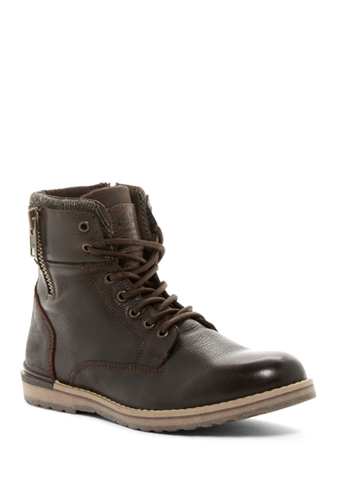 Incaltaminte Barbati GBX Drift 12 Zip Lace-Up Boot BROWN