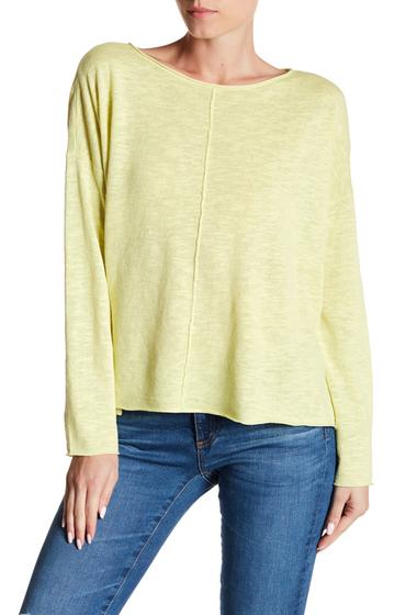 Imbracaminte Femei Eileen Fisher Bateau Neck Organic Linen Blend Top LEMIC
