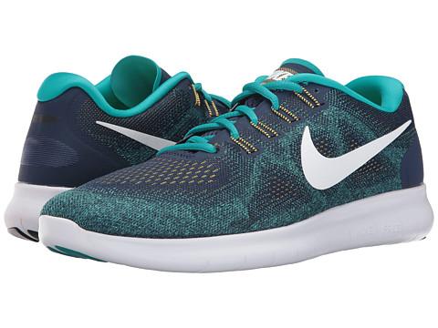 Incaltaminte Barbati Nike Free RN 2017 Binary BlueWhiteTurbo Green