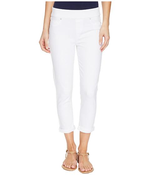 Imbracaminte Femei Liverpool Sienna Pull-On Rolled-Cuff Capris Slub Stretch Twill in Bright White Bright White
