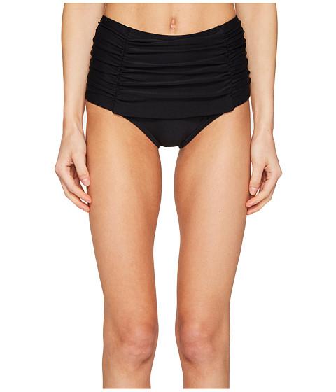 Imbracaminte Femei Kate Spade New York Pink Sands Beach 62 Shirred Front High Waisted Bikini Bottom Black