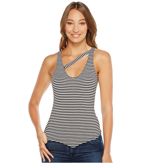 Imbracaminte Femei LnA Stripe V Single Cross Tank Top BlackWhite Stripe