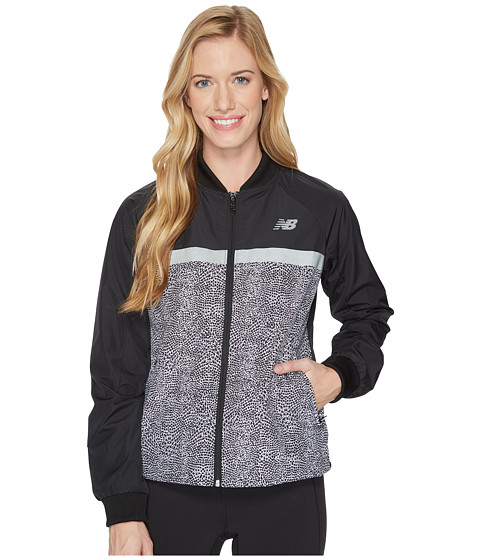Imbracaminte Femei New Balance NB Athletics 78 Jacket Black Multi Print