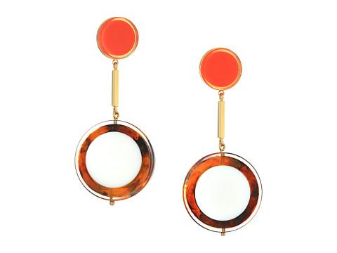 Bijuterii Femei Marc Jacobs Connect The Dots Drop Earrings Red Multi