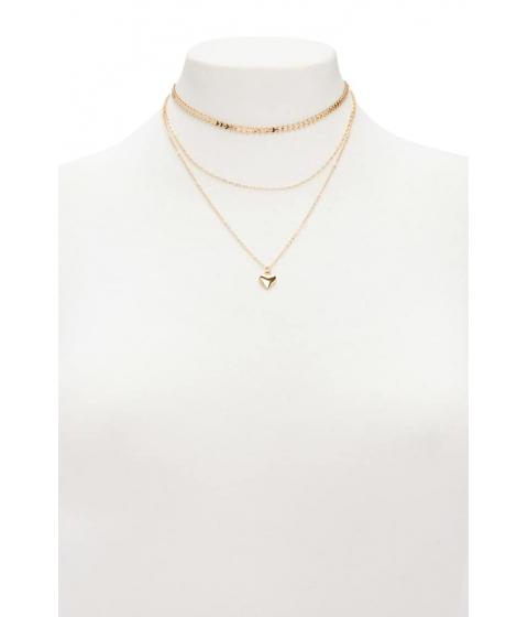 Bijuterii Femei Forever21 Heart Link Necklace Set GOLD