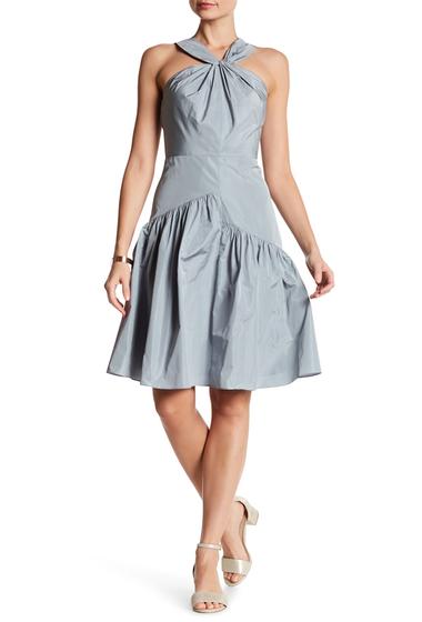 Imbracaminte Femei Rebecca Taylor Knot Neck Taffeta Dress GLACIER