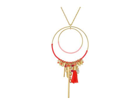 Bijuterii Femei Rebecca Minkoff Gemma Charm Pendant Necklace GoldPink