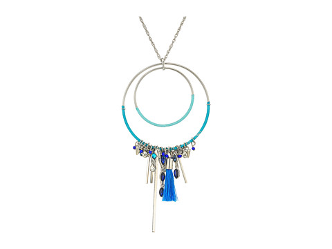 Bijuterii Femei Rebecca Minkoff Gemma Charm Pendant Necklace SilverBlue