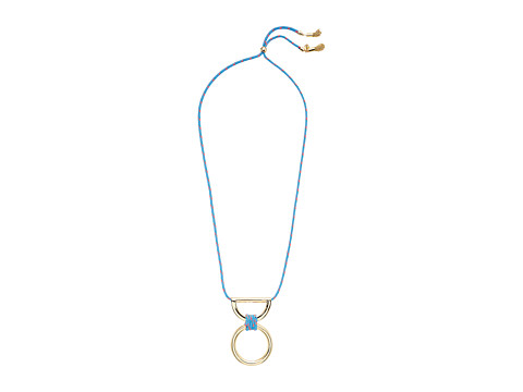 Bijuterii Femei Rebecca Minkoff Climbing Rope Pendant Necklace with Metal Drop GoldTurquoise