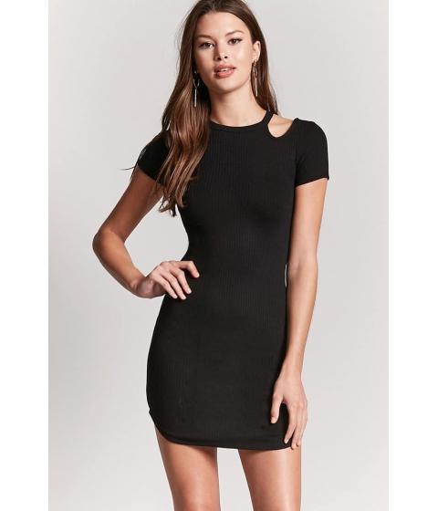Imbracaminte Femei Forever21 Open-Shoulder Bodycon Dress BLACK