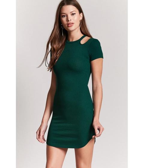Imbracaminte Femei Forever21 Open-Shoulder Bodycon Dress EMERALD