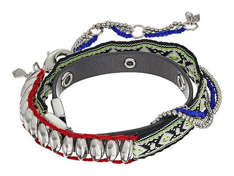 Bijuterii Femei Rebecca Minkoff Mixed Media Wrap Bracelet SilverMulti